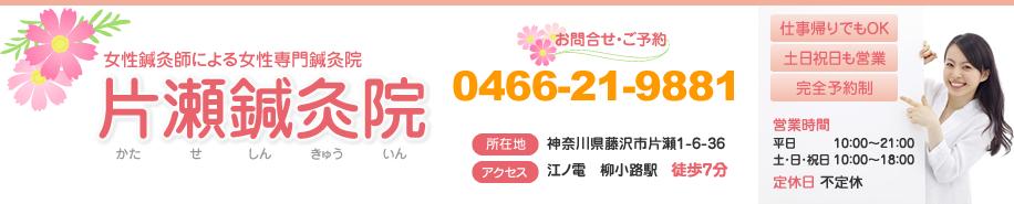 藤沢市の女性専門片瀬鍼灸院は大学病院の博士もオススメする肩こり治療が人気です